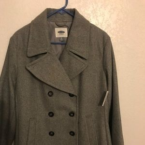 New Old Navy Wool Blend Pea Coat XL